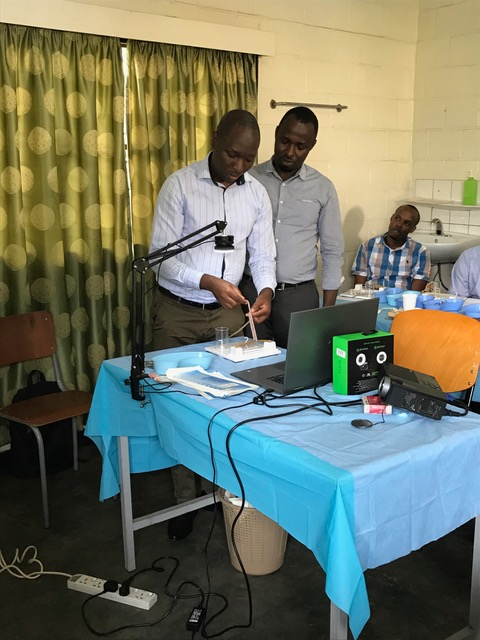 Edinburgh PR photo of surgeons training in Rwanda as money earned by Surgeons Quarter is put towards ending the country's surgical crisis