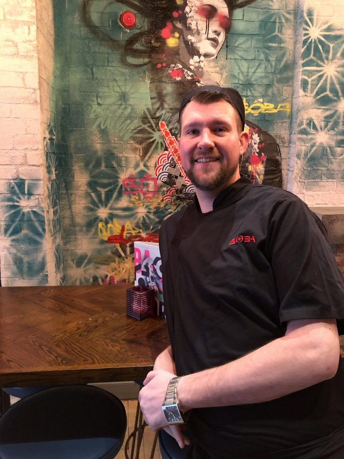 Food and drink PR photograph of Andy Gordon, General Manager at Bar Soba