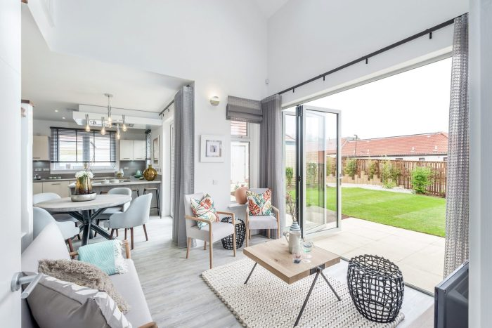 Property PR photography shows newly launched showhome, 'The Stevenson' at CALA Homes' Marine Rise development in Gullane