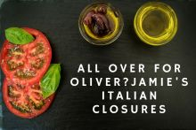 Food and drink PR blog post image for an article discussing Jamie Italian's closures