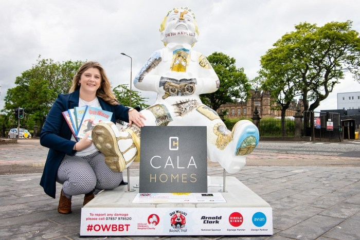 Property PR - CALA Homes helps to launch Oor Wullie's BIG Bucket Trail.