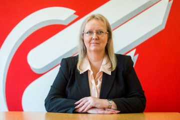Scottish PR photograph of Eagle Couriers Director Fiona Deas