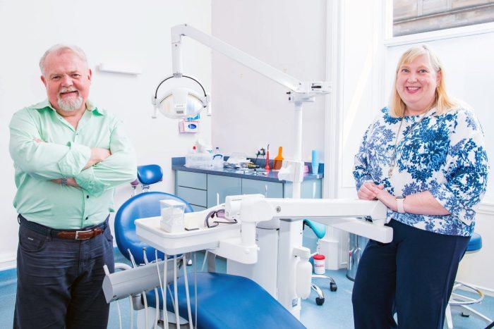 Jim Hall Dr Jacqui Frederick of Dental Group Clyde Munro | Scottish PR agency