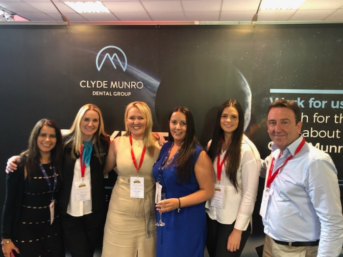 The Clyde Munro team celebrate a move to their new HQ. Clyde Munro's new Glasgow HQ. The dental group has doubled it's head office by moving into the new, state of the art premisis on Douglas Street, Dental PR agency shares news