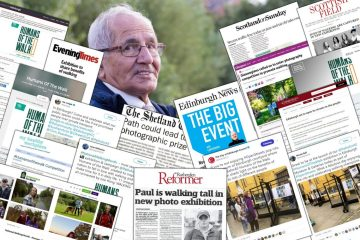 PR Success collage, showcasing coverage achieved for Hoylrood PR's Humans of the Walk campaign for client Paths for All