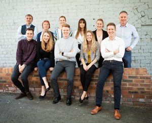 The team at the award-winning PR agency, Holyrood PR in Edinburgh, Scotland