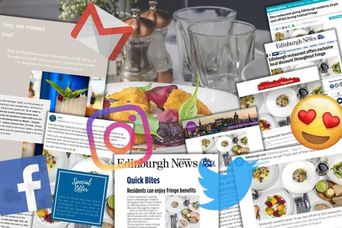 Food and Drink PR success post for Otro's Edinburgh Fringe offer