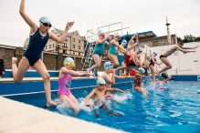 First ever Learn to Swim event is held outdoors   PR Photography