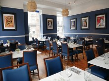 The main dining room at Otro restaurant in Edinburgh