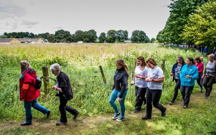 Charity PR photograph of Paths for All Big Fit Walk in Fife
