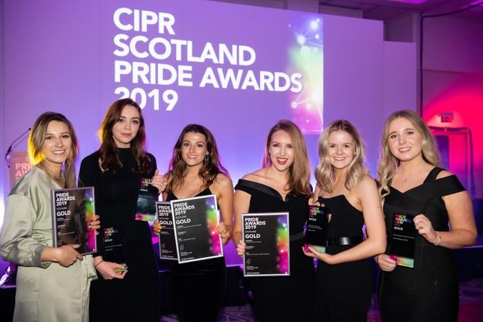 Award winning PR agency Holyrood PR at CIPR PRide Awards 2019