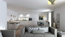 A Property PR image of Gilson Gray's RiverMill development kitchen/living area