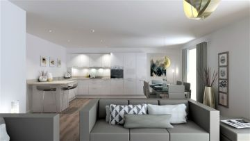 A Property PR image of Gilson Gray's RiverMill development kitchen/living area