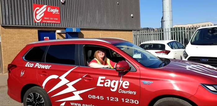 Alyson McKell delivers PR in Scotland for Eagle Couriers