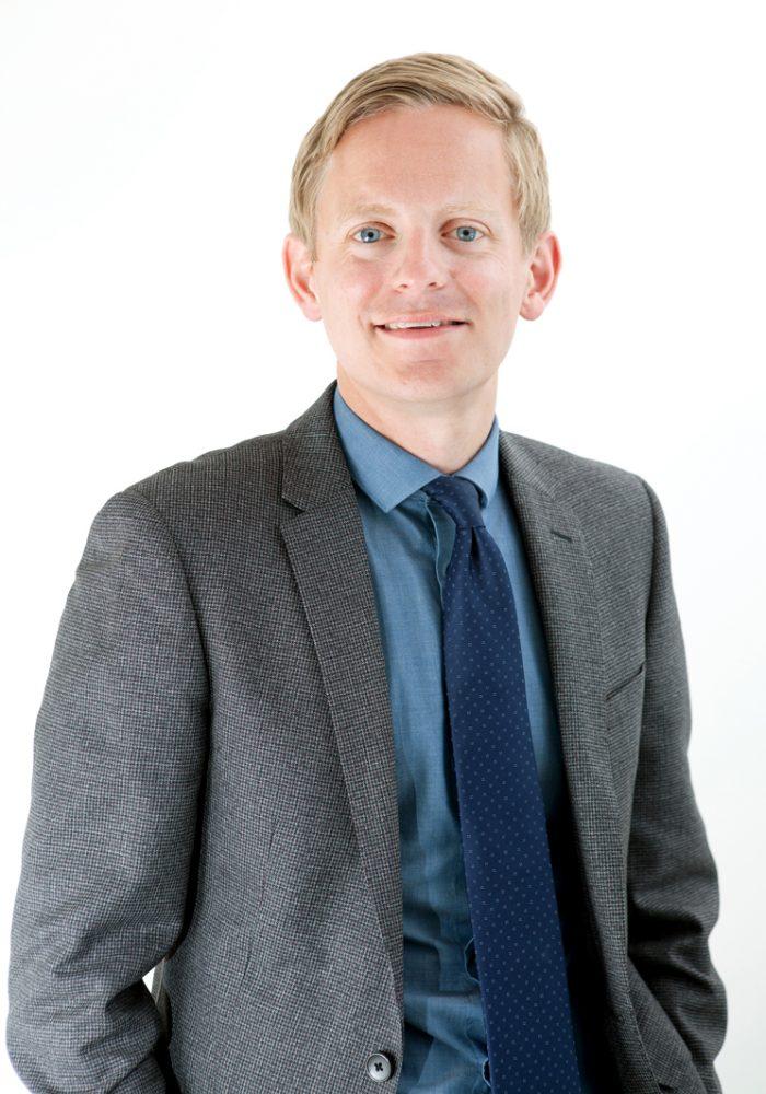 Stuart Common, Sales Director of Mackie's of Scotland, captured in PR photography