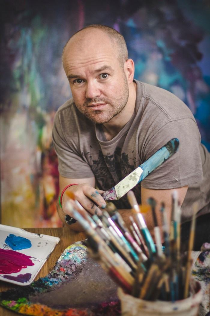 Landscape artist Scott Naismith, for Scottish PR agency
