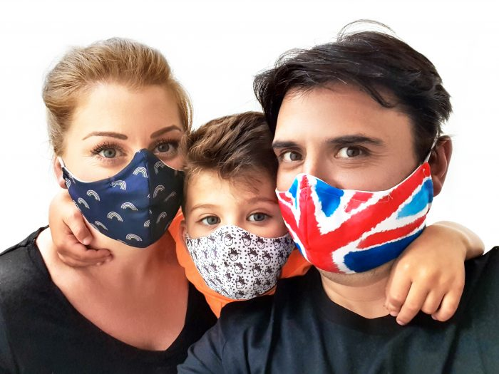 Image of sasMASK founder Hass Peymani and his family. Scottish PR photography for Project work and other clients.