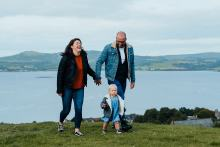 PR photography of Lana Robertson, a participant in Humans of the Walk campaign with her family in Charity PR story by public relations experts Holyrood PR in Edinburgh.