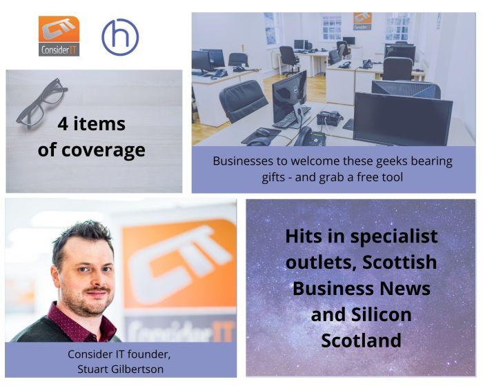 "Edinburgh PR photography ""ghost office"" Consider IT's success post"