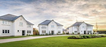 Property PR photography Castle Bay Dunbar, exterior shot CALA sales and Marketing CALA Homes