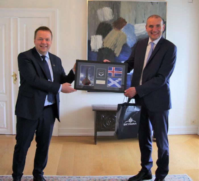 Volodymyr and Icelandic president Tech PR photography