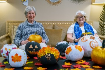 social care PR photograhy Cramond Residence Halloween pumpkin celebrations