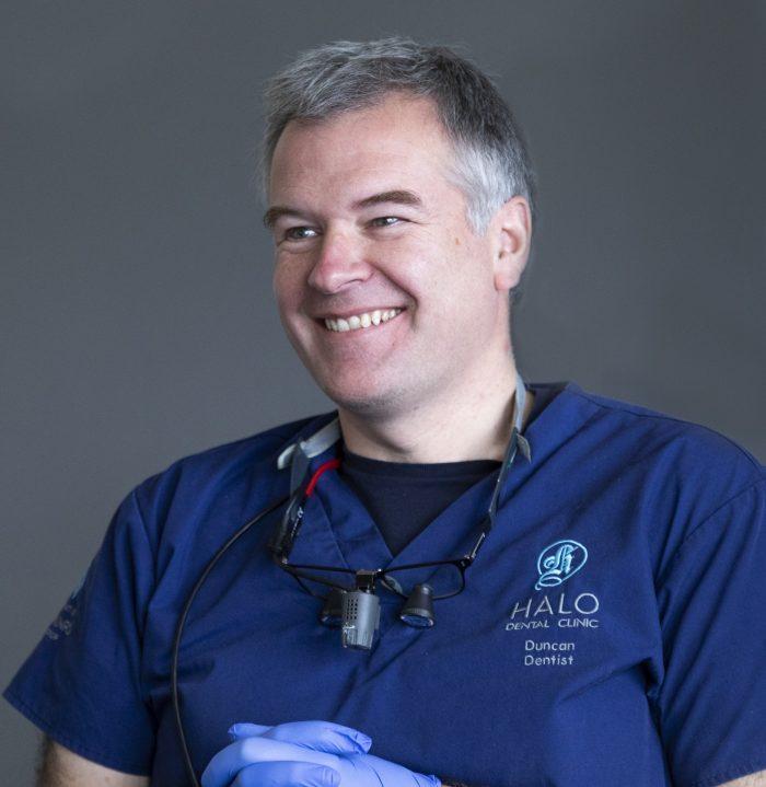 Health PR photography headshot of dentist Duncan Black at Halo Dental