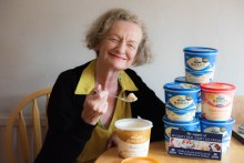 Mary Shaw, 64, Winner of life time supply of ice cream, celebrated by our Consumer PR