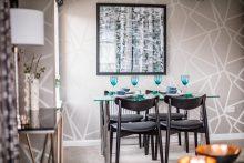 property PR photography Dundas Estates Calderwood Village apartments interior dining room, apartment 2