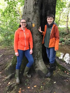 Matthew McDonald and his Mum at the Toddle Tots Fairy Trail   Charity PR
