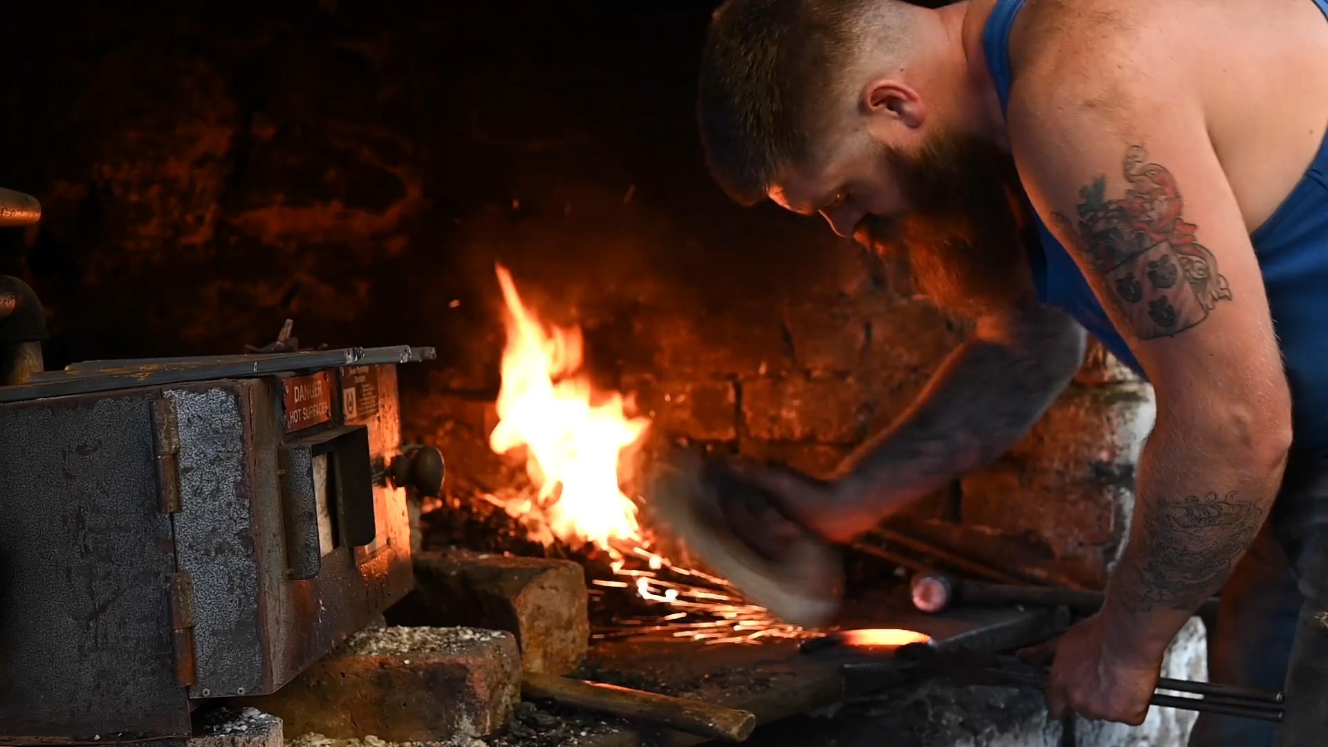 Blacksmith at work in Cousland Smiddy for Consumer PR story by public relations experts Holyrood PR. Image by Eilidh Munro