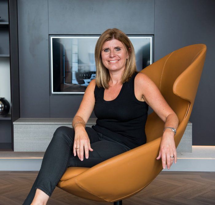 Professional PR photography Kirsten Robeson, Managing Director at Cameron Interiors. Ownership Associates UK