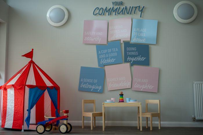 Property PR photography Uphall Station Community Hub, Dundas Estates