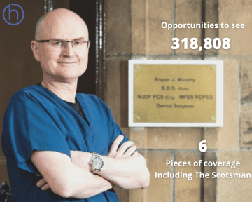 Health PR photography of dentist Frazer Murphy at his Bishopbriggs dental practice