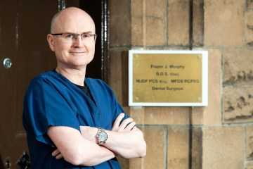 Health PR photography, principal dentist Frazer Murphy, Clyde Munro Dental Group.