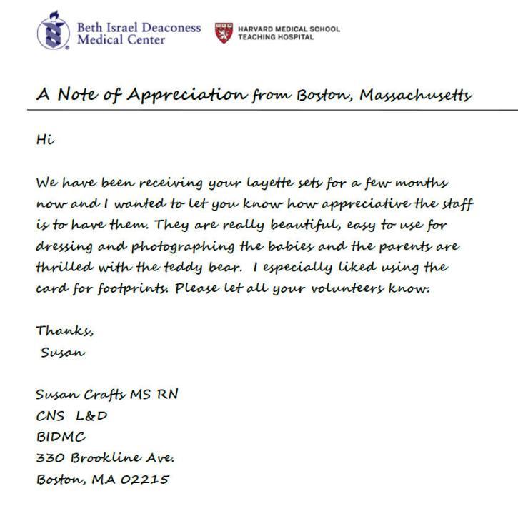Boston MA Letter