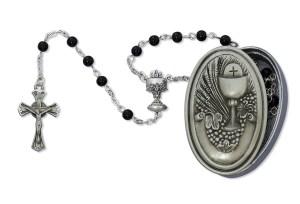 Pewter Crucifix & Center Rosaries