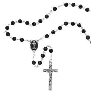 Rhodium Crucifix & Center Rosaries