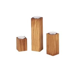 Teelichthalter - Kerzenhalter Säulen aus Eichenholz geölt