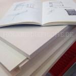 Skizzenbuch mit Planskizzen