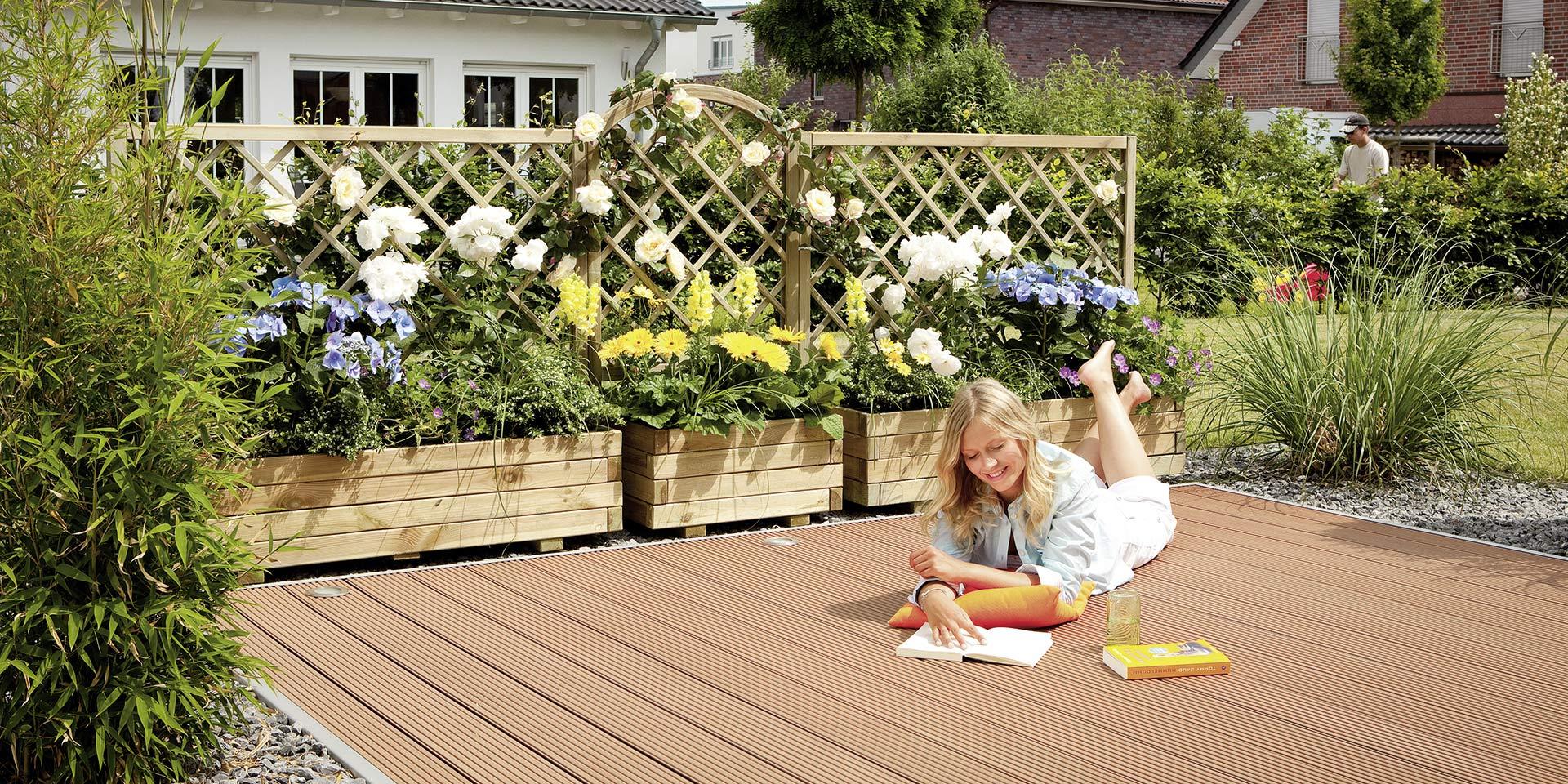Gartengestaltung Terrasse mit HolzLand Köster
