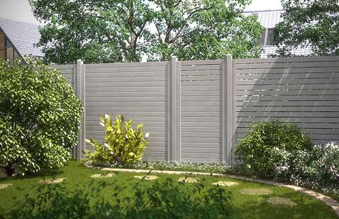 Sichtschutz-Zaun nordisches Nadelholz, grau