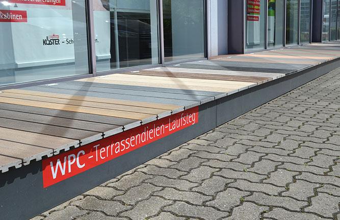 begehbarer WPC-Terrassen-Laufsteg bei Holzland Köster