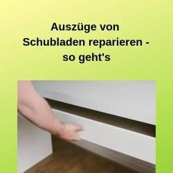 Auszüge von Schubladen reparieren - so geht's