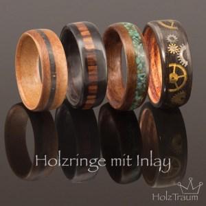 Holzringe mit Inlay
