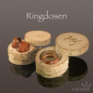 Birkenholz Ringdose für Holzringe Bentwoodringe