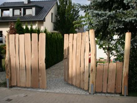 Gartentor Design witterungsbeständiges Holz