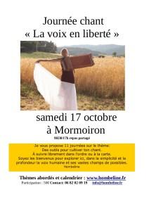 Prochaine Journée «Voix en liberté» le 17 octobre