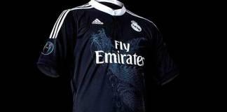 camiseta negra futbol real madrid