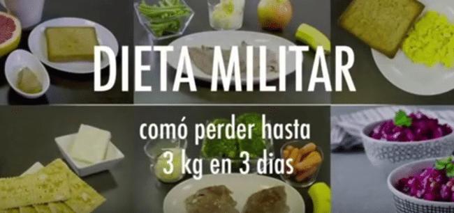 La Dieta Militar: otra dieta milagro